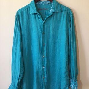 ROBERT GRAHAM Womens Blouse, Button Shirt, Size M